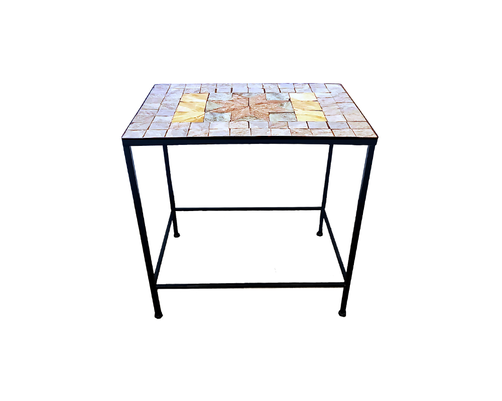 trittico tavolini porta piante maiolica stella garden team medium