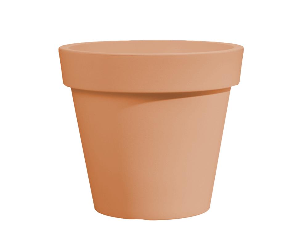 vaso easy 45 cm terra di siena veca vasi e coprivaso giardino plastica 1