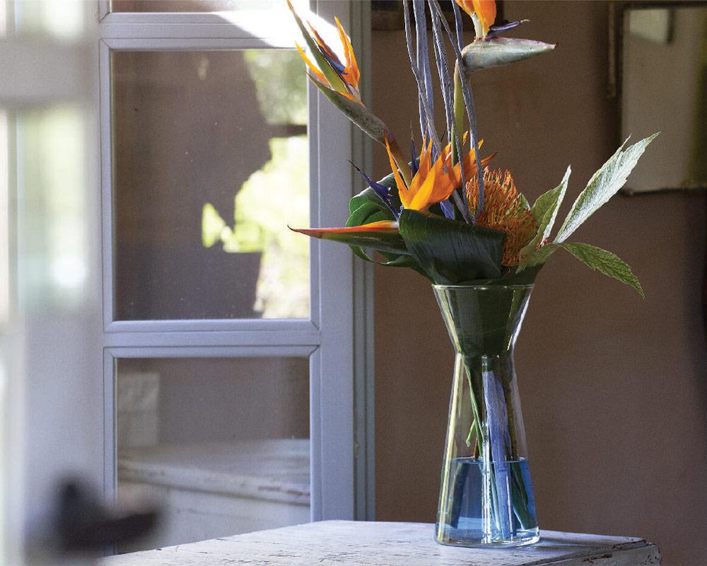 vaso in vetro imbuto 11465 corino bruna vasi e coprivaso giardinaggio 1.ambiente