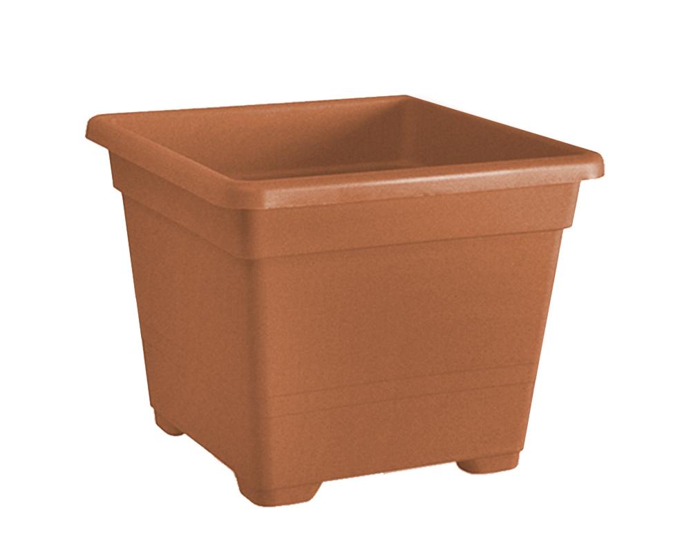 vaso quadrato 38 cm veca vasi e coprivaso giardino plastica terracotta