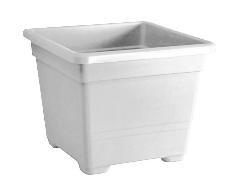 vaso quadrato 45 cm veca vasi e coprivaso giardino plastica bianco