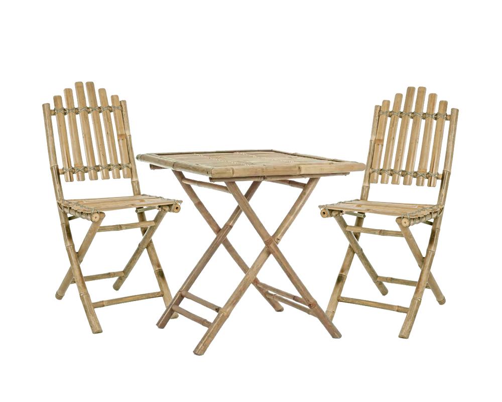 Set Joyce bamboo 2 sedie tavolino