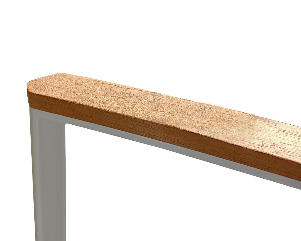 set tavolo magic alluminio c top cemento PARTICOLARE breacciolo