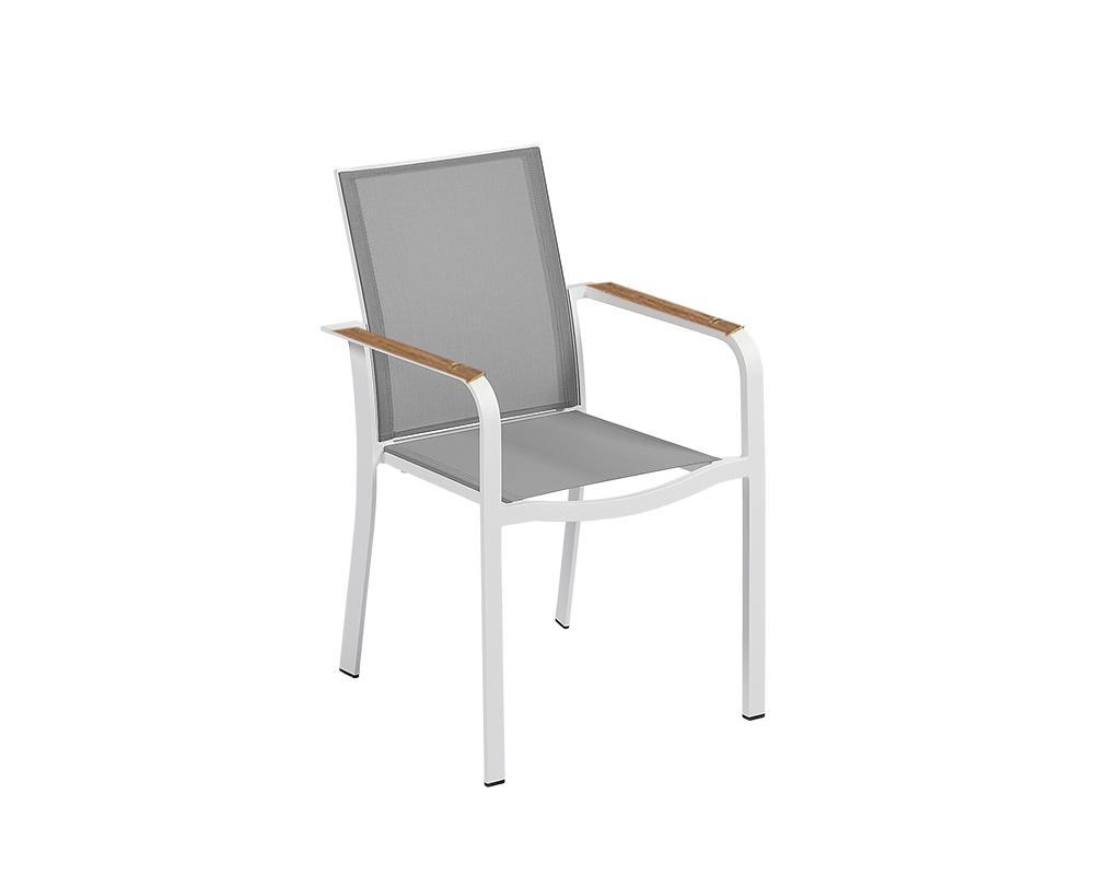 set tavolo magic alluminio c top cemento sedia