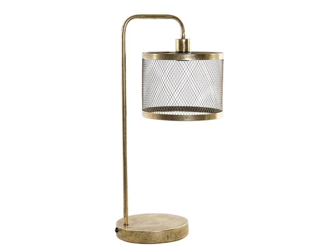 LAMPADA DA TAVOLO METALLO 31X22X61 DORATO item international LA 165566 2