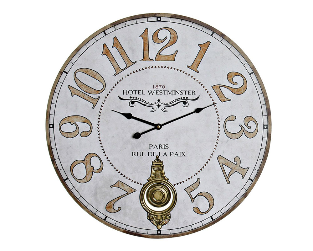 OROLOGIO PARETE PENDOLO VINTAGE LEGNO PARIS RE 176628 ITEM INTERNATIONAL