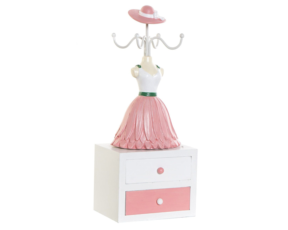 PORTA GIOIELLI BALLERINA MDF RESINA 11X8.5X27.5 DH 175844 item international rosa