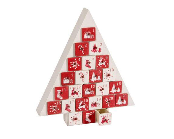 Calendario Avvento Albero Natale Legno