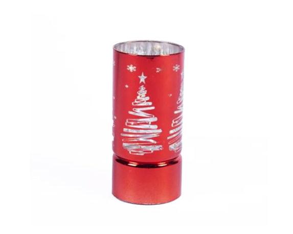 Cilindro Albero C/10led Rosso