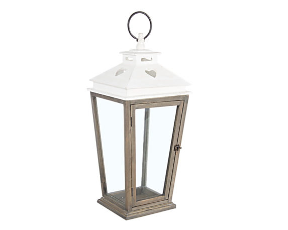 Lanterna Cuore Large Naturale Legno/metallo