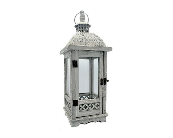 Lanterna Medina Decapata Grigia Legno/metallo