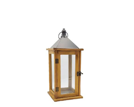 Lanterna Legno Naturale H41