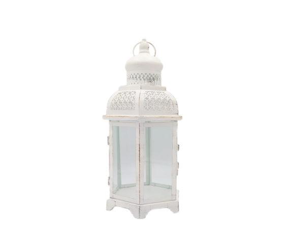 Lanterna Esagonale Small Mille E Una Notte Decapata Bianca