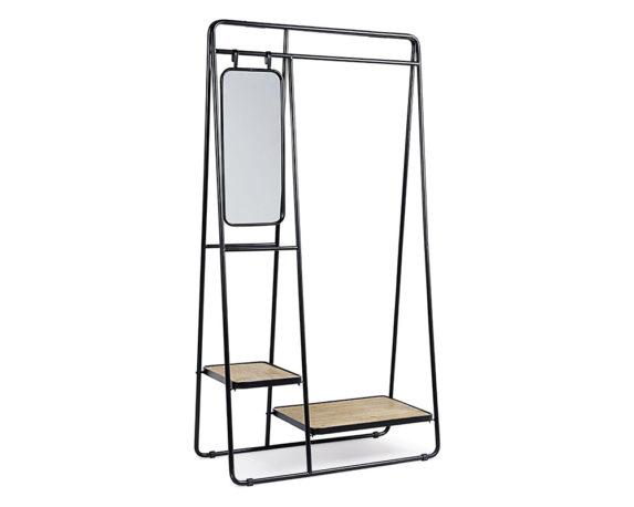 Scaffale C-specchio 3p Jerrod Legno Ferro
