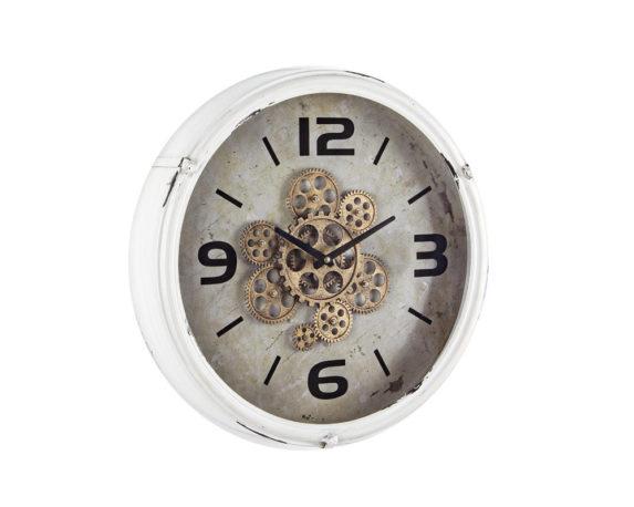Orologio Parete Engrenage D46 Bianco