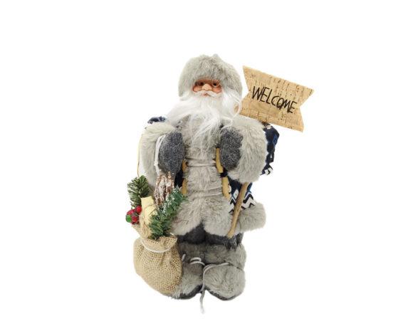Babbo Natale C/sacco H30 Grigio