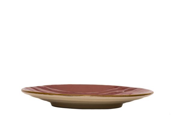 Piattino Piano Dessert Rosso Ciliegia Gres