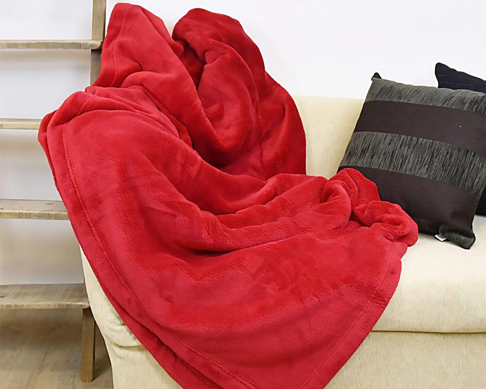 PLAID ENZO 130X180CM ROSSO 33010113 RED . 2