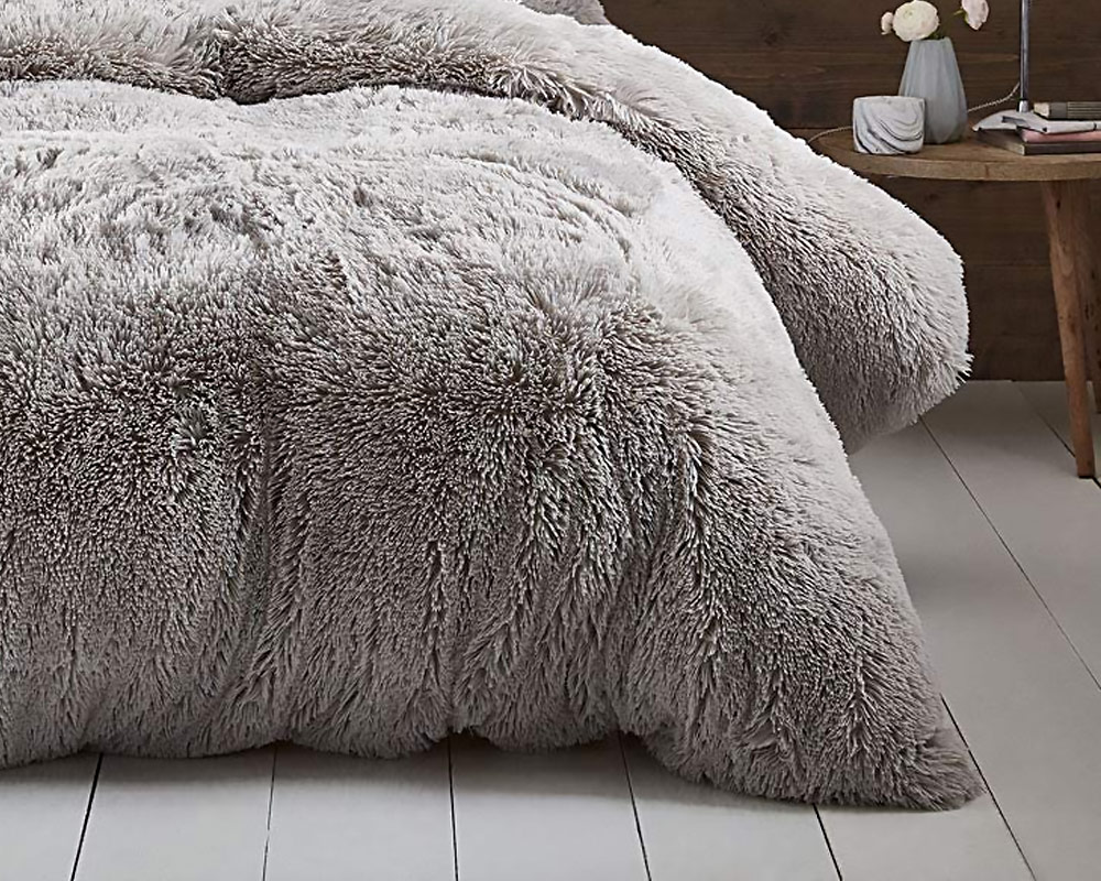 PLAID TEDDY 150X200CM TAUPE 5001017 TAUPE. 3