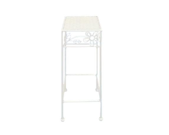 Alzata Per Piante Quadrata Small Bianco/metallo