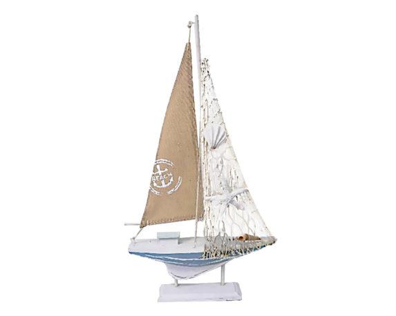 Barca A Vela 24x5x44cm Legno