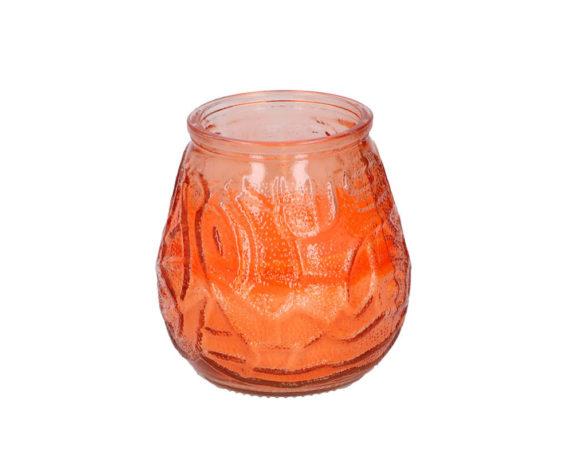 Citronella + Essenza Limone In Vaso Decorata Vetro