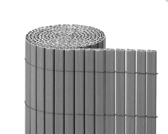 Canniccio Bifacciale PVC 1,5×3 Metri Grigio