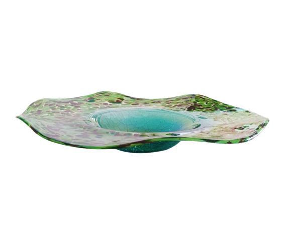 Centrotavola Major Ondulato Vetro Verde