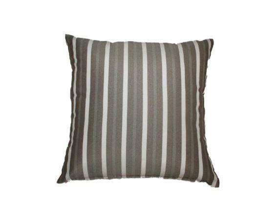 Cuscino Seduta Motivo A Righe 40×40 Taupe Bianco