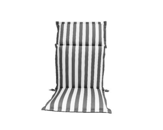 Cuscino Poltrona Alta Motivo A Righe Bianco/grigio