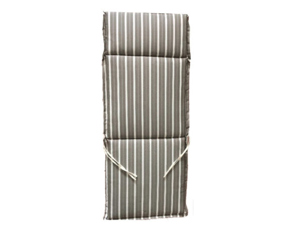 Cuscino Poltrona Alta Motivo A Righe Taupe/bianco
