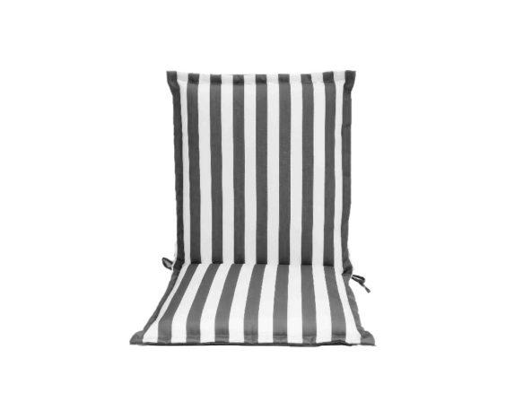 Cuscino Poltrona Bassa Motivo A Righe Bianco/grigio