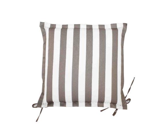 Cuscino Seduta Motivo A Righe Bianco/grigio