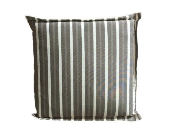 Cuscino Seduta Motivo A Righe 43×43 Taupe/bianco