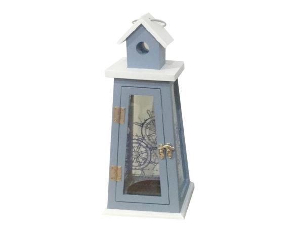 Lanterna Timone Blu Legno