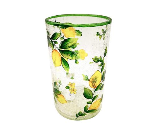 Porta Tealight Ornamento Limoni Crackle