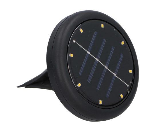 Faretto Da Terra Ricarica Solare 8 LED Da Giardino Nero