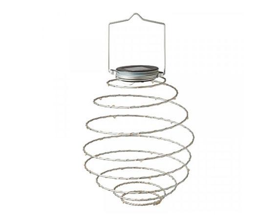 Lanterna Spirale LED Ad Energia Solare Luce Calda Bianca Rame