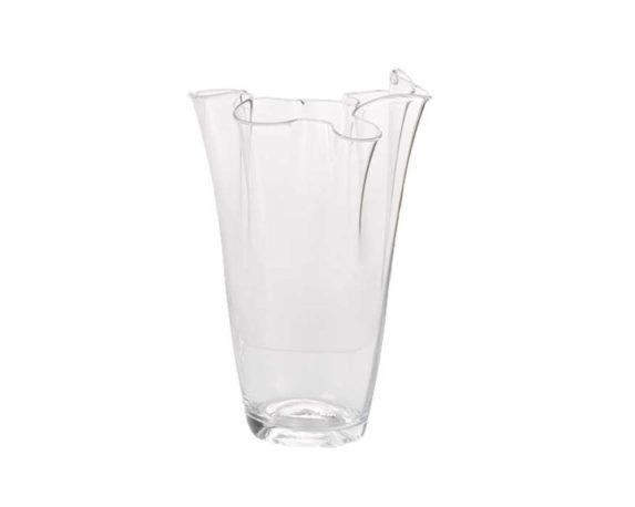 Vaso Fazzoletto Large Vetro Trasparente/lilla