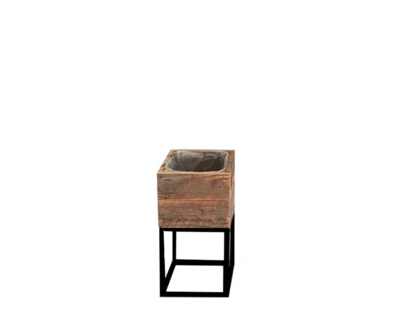 Alzata Porta Pianta Quadrata Small Legno/metallo