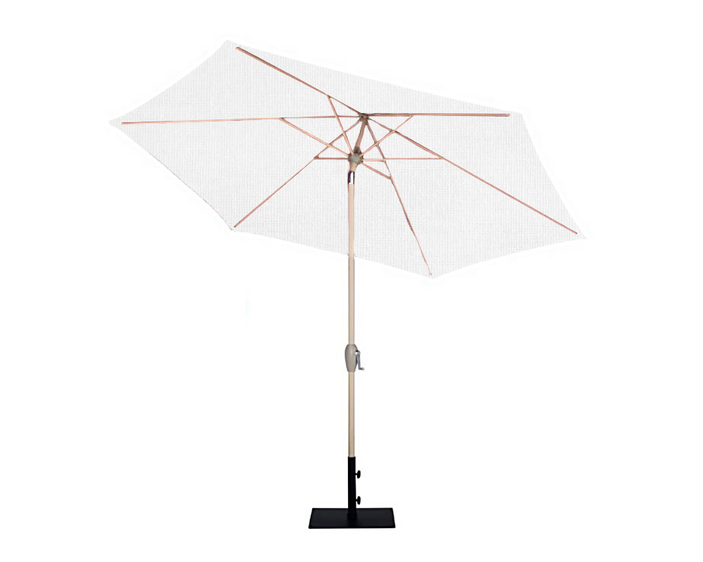 ombrellone mistral d270 alluminio bianco copertura