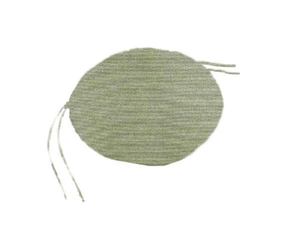 Cuscino Tonda Verde D40 Cotone
