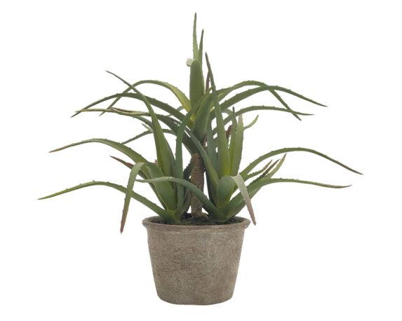 Aloe Vera Artificiale In Vaso H40