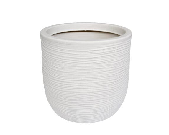 Conchino Rigato Shabby Ø35 Cm Bianco Perla