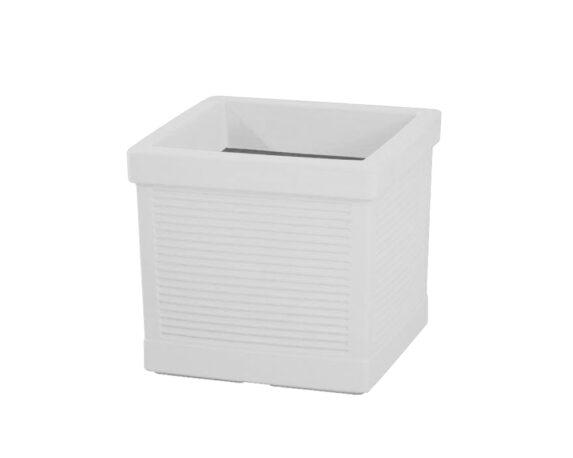 Cassetta Quadrata Millerighe 42×42 Cm Bianco
