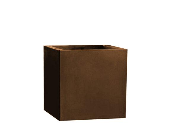 Vaso Cubo Fenice 45×45 Cm Bronzantico