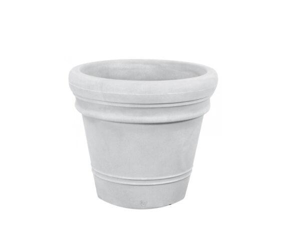 Vaso Liscio Doppio Bordo Ø55 Cm Bianco