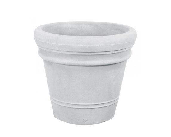 Vaso Liscio Doppio Bordo Ø75 Cm Bianco