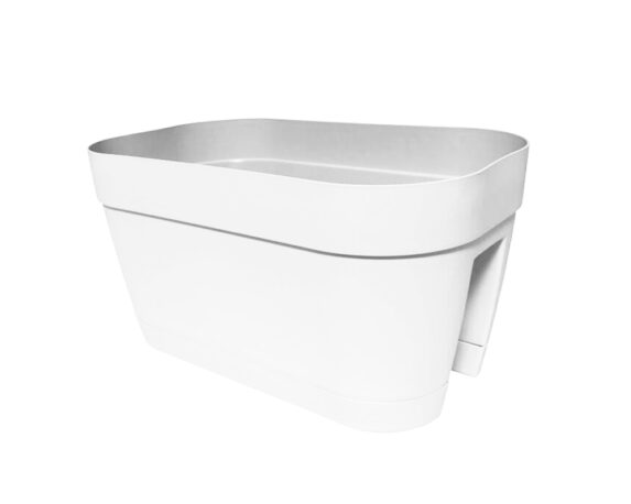 Vaso Ringhiera Ovale Orlando 45×27 Cm Bianco
